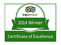 TRIP ADVISOR WINNER - CERTIFICATE OF EXCELLENCE